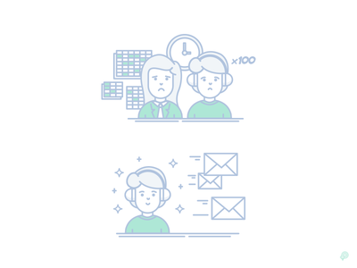 Happy Sad clock spreadsheet envelope happy user sad lineart lines illustration icon