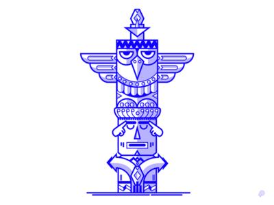 Eagle Totem decision thinking focus eagle totem art line illustration