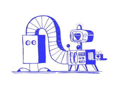 Mr. BOX - Gift gift love hearth machine box mr. sketch illustration