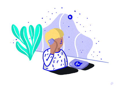 Teleconsulting medical handdraw design linen art boy icons 2d line monochrome icon illustration