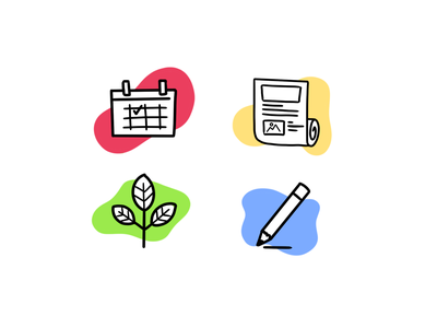 Icons ui handdraw design icons 2d line lines monochrome icon lineart illustration