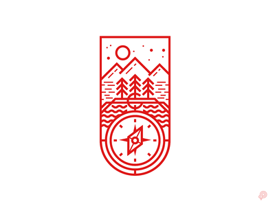 Explorer - Genuine Fresh Air (Logo) minimalism linelogo brand logo linen design icons 2d line lines monochrome icon lineart illustration