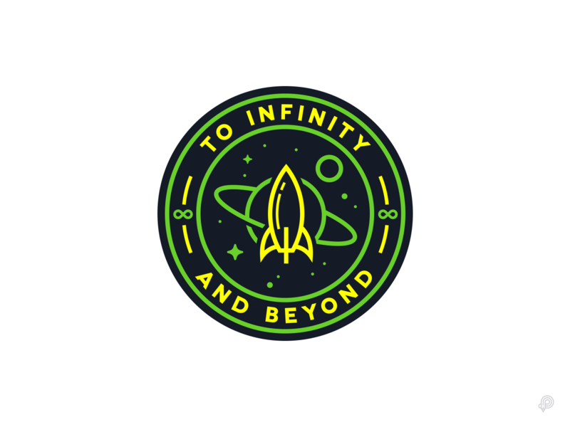 To Infinity And Beyond toy story buzz lightyear rocket linelogo logo linen icons 2d monochrome lineart vector branding design minimal icon illustration
