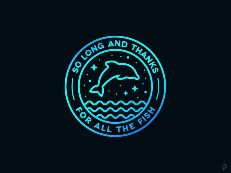Dolphin logo badgelogo badge dolphin design icons 2d line lines monochrome icon lineart illustration