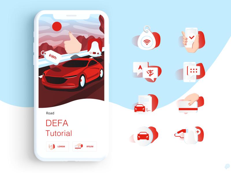 DEFA iphone vector design icons icon illustration