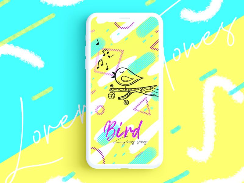 BIRD procreate handdraw art design 2d lines icon lineart illustration