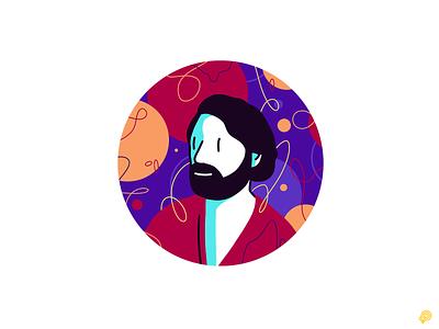 Autoportrait - Party ideas procreate autoportrait handdraw art boy design icons 2d lines icon illustration