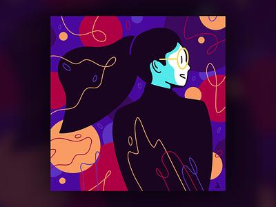 Girl branding handdraw art girl design icons 2d lines icon illustration