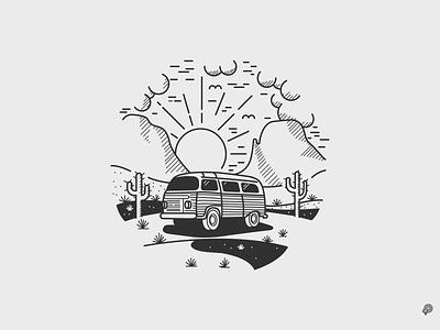 Desert vector linen art icons line lines monochrome icon lineart illustration