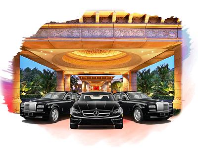 Luxury Cabs  art homepage travel website web ux ui minimal iilustration design