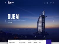 Travel Website Homepage
