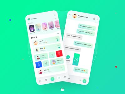 WhatsApp redesign concept app ux ui design