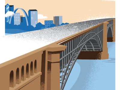 Eads Bridge Illo texture river louis st bridge eads