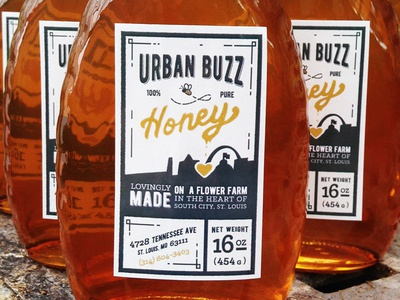 Honey Label Final urban city arch louis st bee honey packaging food