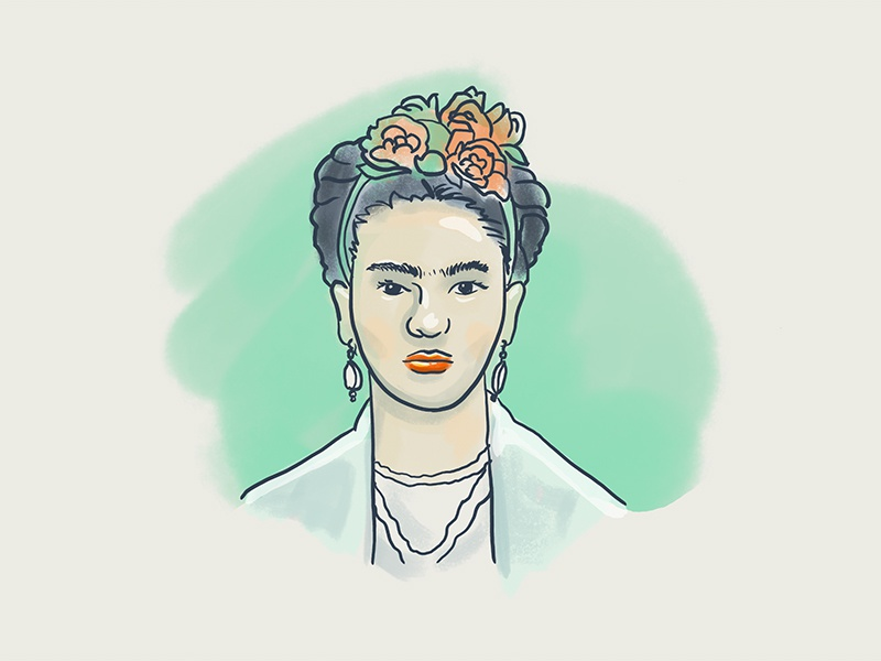 Friddda portrait kahlo frida illustration