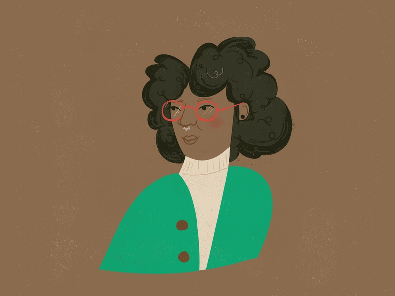 An Old Friend mint green brown sweaters glasses illustration