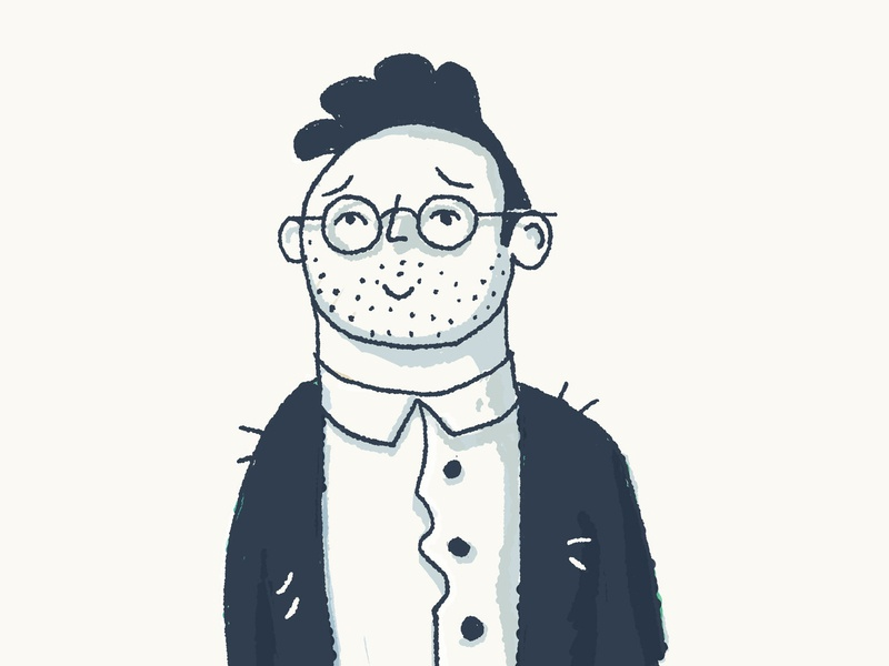 Scritchy Sweater sweater glasses illustration