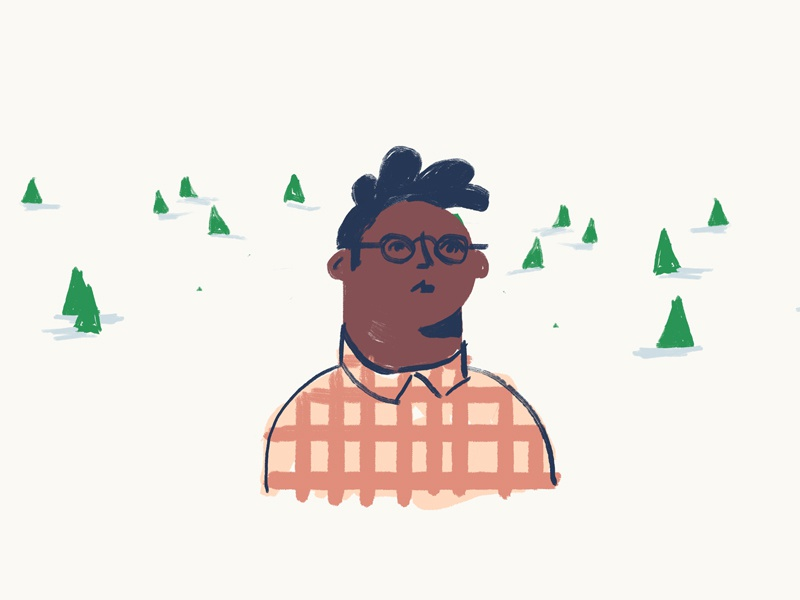 Lumberjack Daydream flannel woods character design illustration