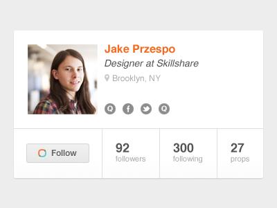 User Card users profiles orange