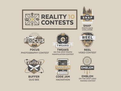 Reality 10 Contest Logos