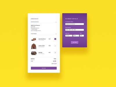 Daily UI Challenge - Credit Card Checkout Form