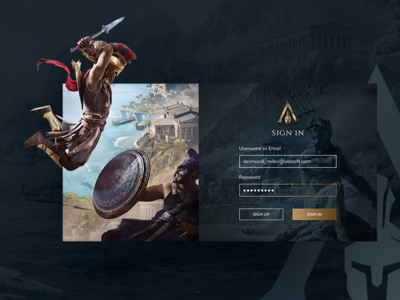 Assassin's Creed Odyssey Sign In Screen