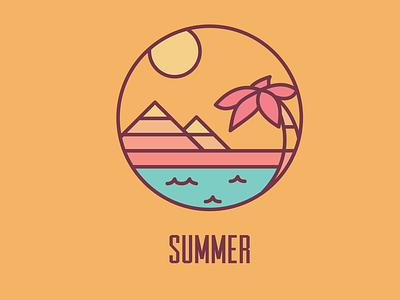 Retro Summer Badge icon vector illustration design retro