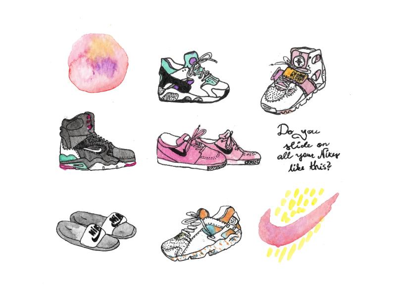 Watercolor Shoes nike watercolor watercolour