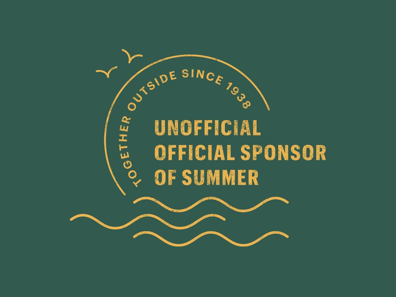 Summer Stamp waves birds sun ocean branding stamp mark logo summer