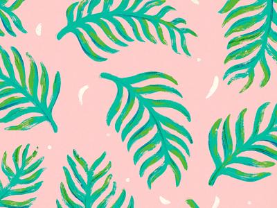 Summer pattern 01 summertime leaves logo palm plant leaves pattern summer
