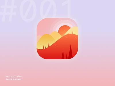 Daily UI Challenge #001 — Sunrise Icon App digital interface freebie free download sketch daily ui icon sunrise app