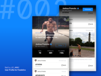 Daily UI Challenge #002 — User Profile for Freeletics