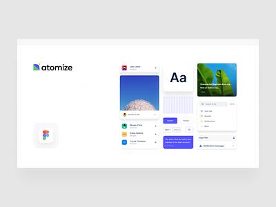 Atomize for Figma 🟣 icons symbols webdesign styleguide typography framework ui branding figma design system atomize