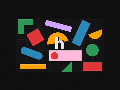 Heeko Philosophy digitalart agency branding geometric illustration abstract