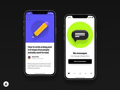 Anicons Example screen 📱 icon set app design branding design ui illustration icons 3d