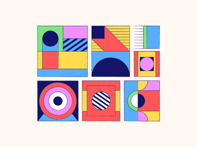 Pattern Composition box shapes abstract illustration geometric art pattern