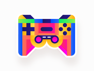 Game Controller 🎮 video games shape creative pattern illustration geometric game art abstract