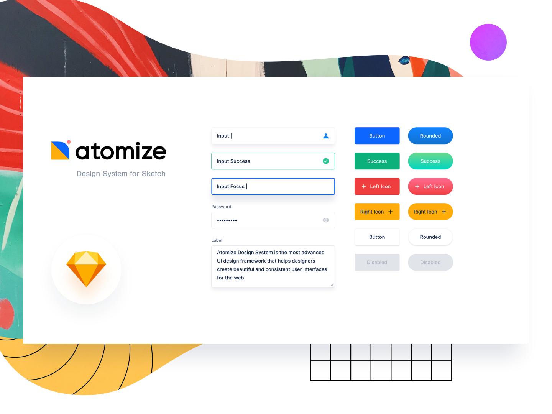 🔶Atomize 3.0 Demo 🔷 designsystem demo sketch symbols free framework design atomize ui