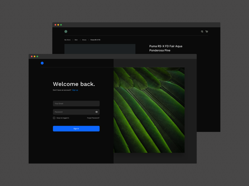 Atomize - Dark Theme 👁‍🗨 webdesign branding ux ecommerce login website typogaphy example uidesign design system framework ui design atomize