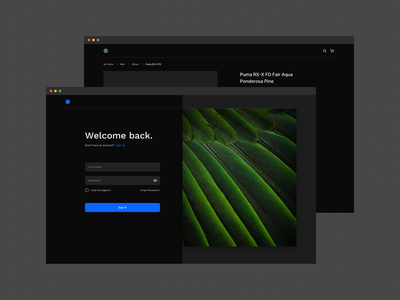 Atomize - Dark Theme 👁🗨 webdesign branding ux ecommerce login website typogaphy example uidesign design system framework ui design atomize