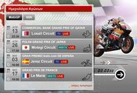 Race calendar widget