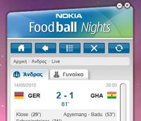 Nokia Foodball nights widget
