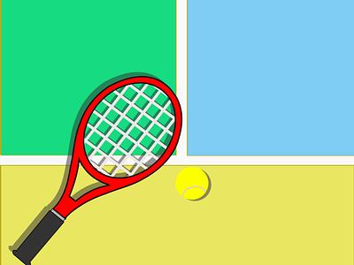 Tennis tennis-court ball tennis-racket illustration tennis