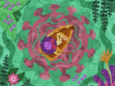 Keep Calm at Lake Corona keep calm and carry on keep calm boat coronavirus corona design water illustration design illustrations illustration art illustration