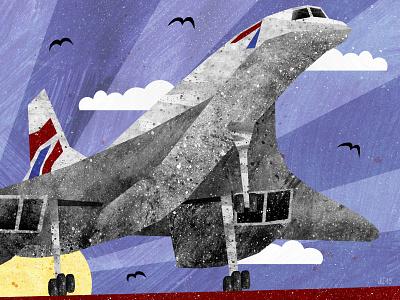 Aerospace bristol museum airport airfield aerospace concorde plane aeroplane airplane illustration art illustration