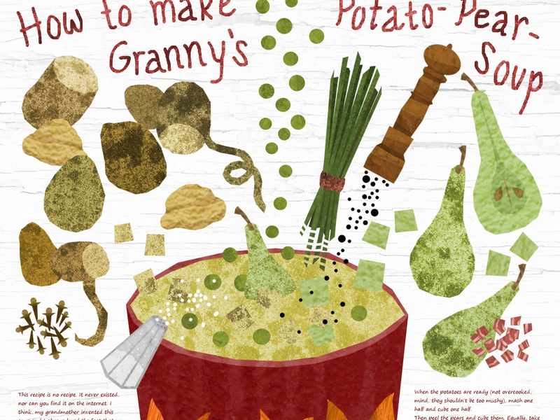 How to make Granny's Potato-Pear-Soup cooking recipe pears potatoes food soup illustration design illustration art illustrations illustration