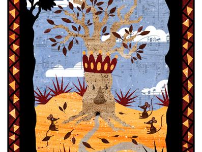 Folktale Week: Crown desert crown mouse mice tree illustration design fairy tale mythology childrens illustrations illustration art illustration