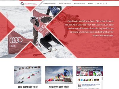 Audiskicross ux design swissski freeski skicross freestyle ski ui ux webdesign