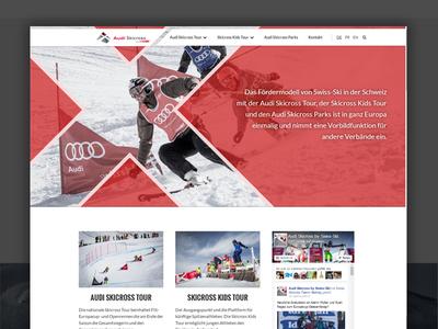 Audiskicross landingpage ux design webdesign ux ui swissski skicross ski freestyle freeski