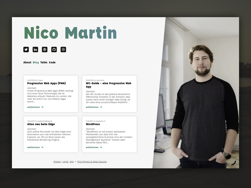 nico.dev interaction design webdesigner webdesign portfolio page portfolio
